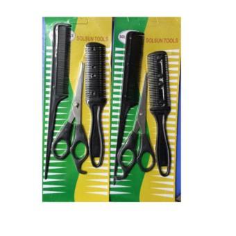 Bộ lược tỉa tóc + kéo + lược