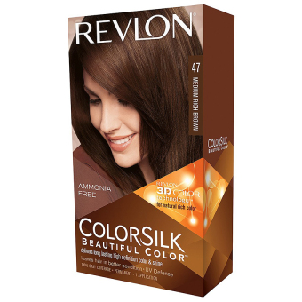 Thuốc nhuộm tóc REVLON COLORSILK - 47 MEDIUM RICH BROWN