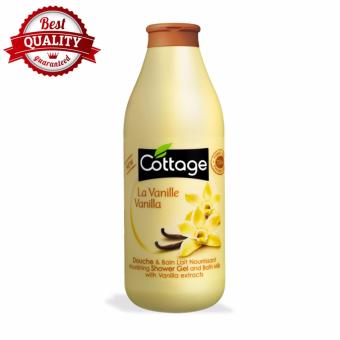 Sữa tắm dưỡng ẩm Cottage Pháp 750ml hưỡng Vanilla Macco Mart