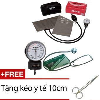 Máy đo huyết áp đồng hồ ALPK2 500V FT 801 (Xám) + Tặng kéo y tế 10cm