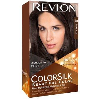 Thuốc nhuộm tóc REVLON COLORSILK - 20 BROWN BLACK