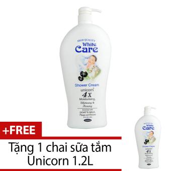 Sữa tắm Unicorn White Care 1.2L + Tặng 1 chai cùng loại