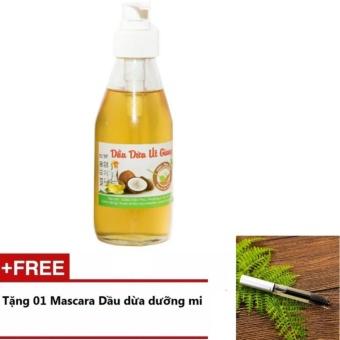 Dầu Dừa Út Giang 200ml + Tặng 1 Mascara Dầu Dừa Dưỡng Mi 5ml