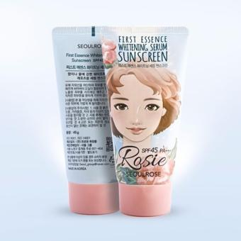 Kem dưỡng chống nắng 3in1 Seoulrose First Essence Whitening Serum Suncreen SPF45 PA+++45g