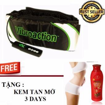 Đai Massage Bụng Vibroaction Tặng Kem Tan Mỡ Bụng 3 Day