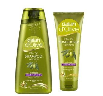 Bộ 1 Dầu gội và 1 Dầu xả Oliu cho tóc nhuộm Dalan D'Olive Nutrition Color Protection