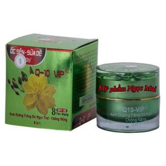 Kem dưỡng trắng da mặt ngọc trai - Chống nắng 8 tác dụng Q-10 Ốc Sên Sữa Dê 30g
