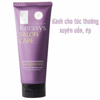 Kem hấp dưỡng tóc cho tóc thường xuyên uốn ép Kerasys Salon care Straightening Hàn Quốc 200ml