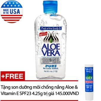 Gel dưỡng da Aloe Vera 113gr + Tặng son dưỡng môi chống nắng Aloe & Vitamin E SPF23 4.25g
