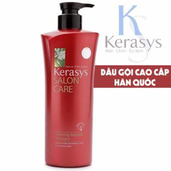 Dầu gội kích thích mọc tóc giúp tóc suôn mượt hơn Kerasys Salon care Voluming Hàn Quốc 600ml - Hàng Chính Hãng
