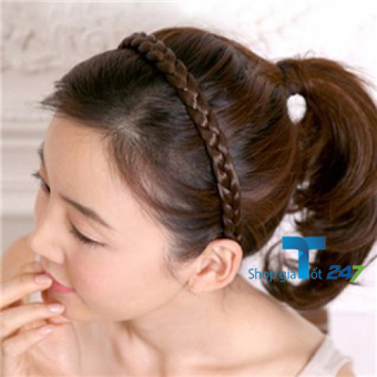 Bộ 2 băng đô tóc tết cho bạn gái Giá Tốt 247 (Cà phê)