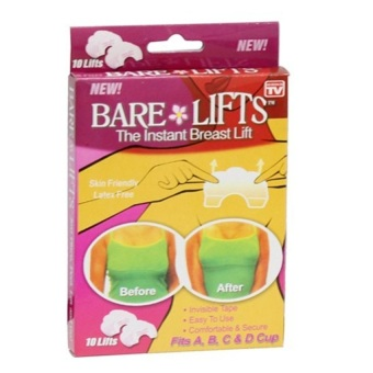 Bộ 10 miếng dán nâng ngực Bare Lifts (Trong suốt)