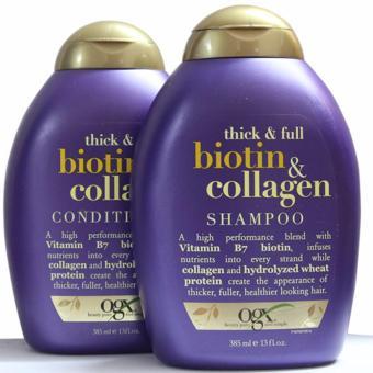 Bộ dầu gội và xã chóng rụng tóc Biotin Collagen 385ml Wowmart VN
