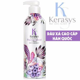 Dầu xả nước hoa tinh chất Violet và xạ hương kerasys Elegance & sesual Cao cấp Hàn Quốc 600ml