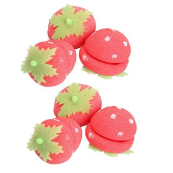 Bộ 6 lô uốn tóc quả dâu tây (Đỏ)