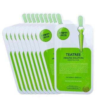 Bộ 10 gói Mặt nạ dưỡng da trị mụn chiết xuất trà xanh Mediheal Teatree Healing solution Essential Mask 25ml x10