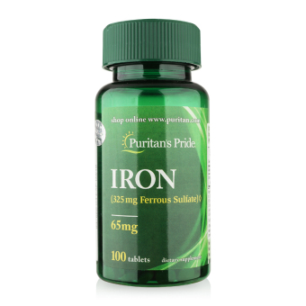 Viên uống bổ sung sắt, giúp bổ máu, ngăn ngừa thiếu máu Puritan's Pride Iron 65mg 100 viên
