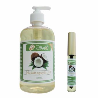 Bộ chai dầu dừa nguyên chất 500ml và Mascara dầu dừa 10ml