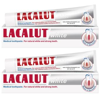 Combo 2 hộp kem đánh răng trắng răng Lacalut White