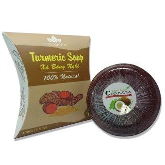 Xà bông nghệ Cocosavon Turmeric soap 100% natural 100g