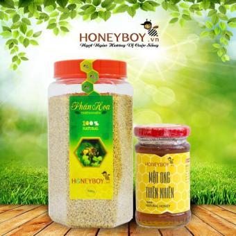 Bộ Mật ong thiên nhiên Honeyboy 100ml và Phấn hoa thiên nhiên 500g