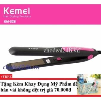Máy kẹp tóc Kemei Km-328 + Tặng kèm khay đựng mỹ phẩm để bàn