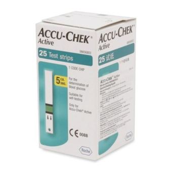 Que thử đường huyết Accu-check Active 25 que