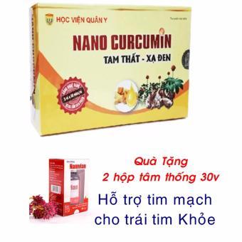Bộ 12 hộp Nanocurcumin Tam thất xạ đen HVQY + Tặng 2 hộp tâm thống