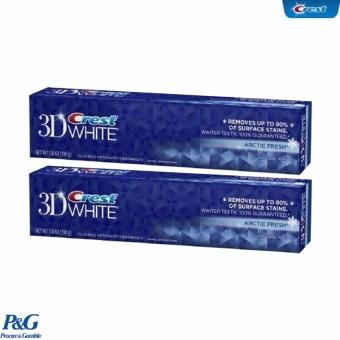 Bộ 2 Hộp Kem Đánh Răng Crest 3D White 3 Benefits In 1 Arctic Fresh 198g
