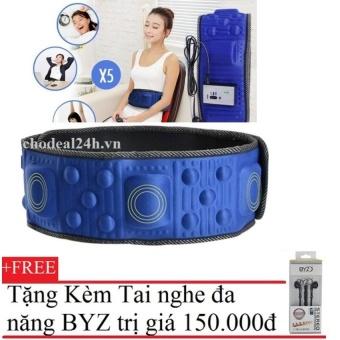 Đai massage giảm mỡ cho Mẹ Bé sau khi sinh chodeal24h (xanh) + Tặng Tai Nghe BYZ