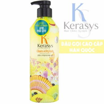 Dầu gội nước hoa giảm thiểu gãy rụng và khô xơ tóc KeraSys Glam & Stylish Hàn Quốc 600ml - Hàng Chính Hãng