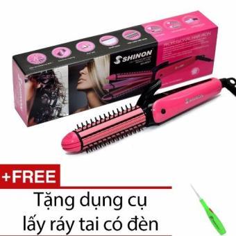 Lược điện tạo kiểu tóc 3 trong 1 SH-8097 + Tặng dụng cụ lấy ráy tai có đèn