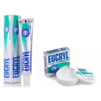 Bộ 1 tuýp kem và 1 bột làm trắng răng Eucryl