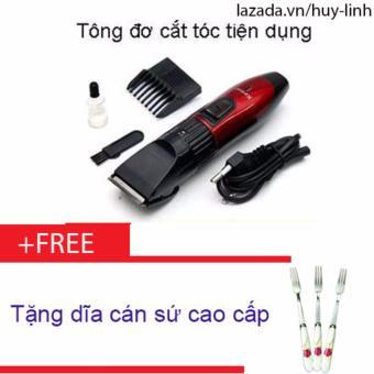 Combo tông đơ cắt tóc cho trẻ em tiện dụng + Free 1 dĩa cán sứ cao cấp