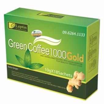 Cafe xanh giảm cân, tan mỡ GREEN COFFEE 1000 Gold của Mỹ