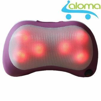 Gối massage hồng ngoại 6 bi PL-819 Model 2016 + Tặng đầu cắm ô tô