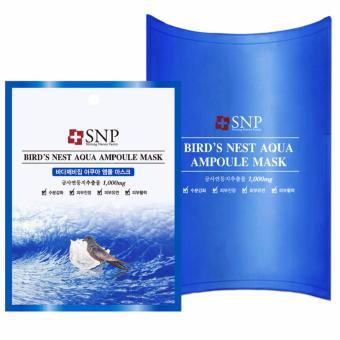 Bộ 10 miếng SNP BIRD'S NEST AQUA AMPOULE MASK dưỡng ẩm bằng tinh chất tổ yến biển