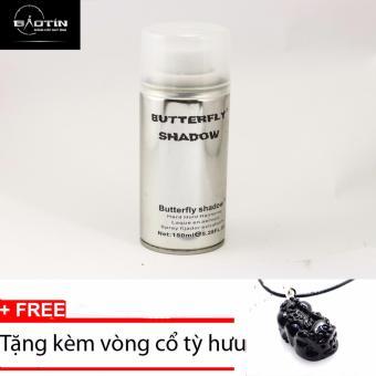 Keo Gôm xịt tóc giữ nếp Butterfly Shadow 150ml+Tặng kèm vòng cổ tỳ hưu đen