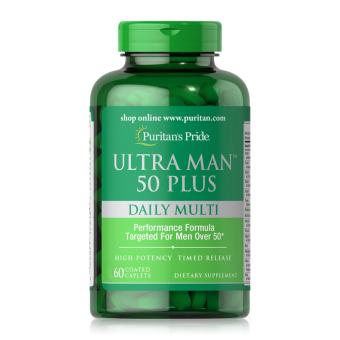 Viên uống vitamin tổng hợp tăng cường sức khỏe cho nam giới trên 50 tuổi Puritan's Pride Ultra Man 50 Plus Daily Multi 60 viên