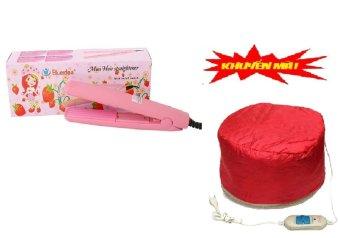 Máy dâp tóc mini (Hồng) + Tặng 1 mũ hấp dầu tiện dụng