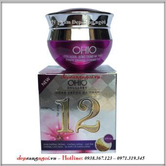 Kem dưỡng trắng - Chống nắng - Giữ ẩm - Chống lão hóa - Se khít lỗ chân lông 12 tác dụng Ohio Collagen - Đông trùng hạ thảo