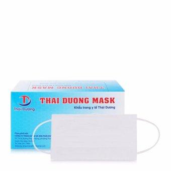 Khẩu trang y tế THÁI DƯƠNG MASK 3 lớp kháng khuẩn 50 chiếc (Trắng)