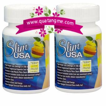 Bộ 2 Viên uống giảm cân dành cho người khó xuống cân Slim USA