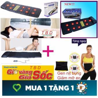 Nệm Massage Mát Xa Toàn Thân+Tặng gen nịt bụng