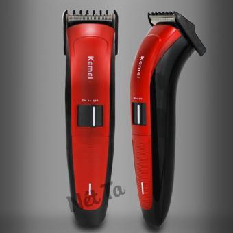 Tông đơ cắt tóc Kemei KM-3118 (Màu đen phối đỏ)