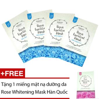 Bộ 4 mặt nạ Bidanmi Aqua Essential + Tặng mặt nạ Rose Whitening