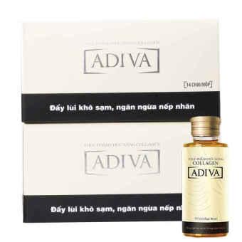 Bộ 2 hộp Collagen ADIVA dạng nước 14 lọ x 30ml + Tặng 1 Sữa dưỡng thể Revlon New Complexion Luminous White Body Lotion 200ml