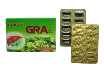 Thực phẩm chức năng Vioba giải độc gan GRAe hộp 5 vỉ x 10 viên (Xanh)