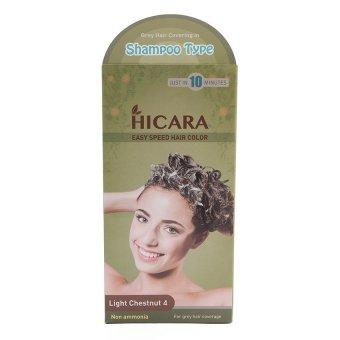 Thuốc nhuộm tóc phủ bạc HICARA Easy Speedy Hair Color 4 . 2 Tuýp x 60g (Hạt dẻ sáng)