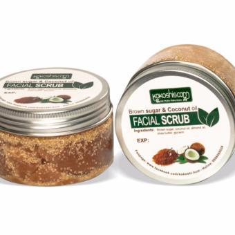 Bộ 2 Đường Nâu & Dầu Dừa Tẩy Da Chết Mặt-Môi ( Facial Scrub) Kokoshis